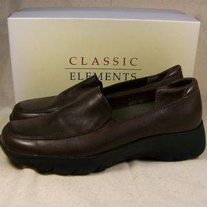 Classic Elements Brown Loafer Shoes Sz 8 Comfort